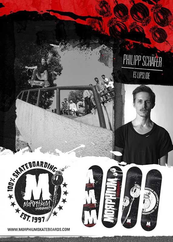 Philipp Schäfer Morphium skateboards Anzeige