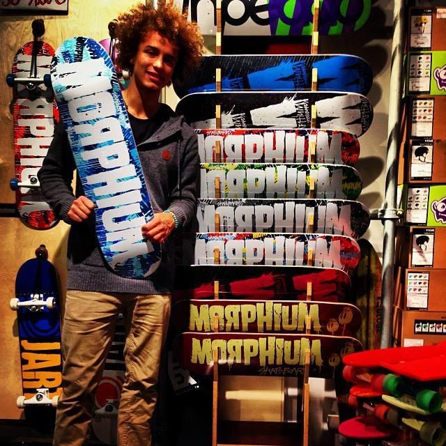 Benny Vogel im Titus Hamburg für Morphium Skateboards