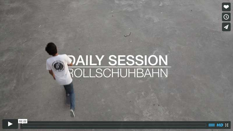 Rollschuhbahn Skateboard Session in Hamburg