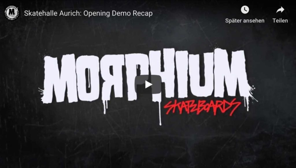 Skatehalle Aurich Morphium Demo Video Clip